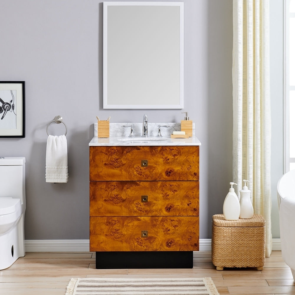 Betlow Marble 30-inch Single Vanity Sink - RoomsandDecor.com