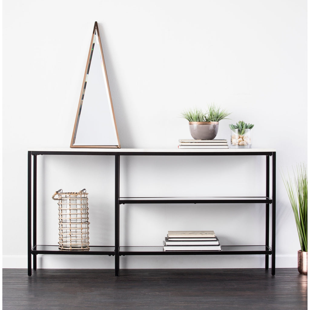 Black and Grey Faux Marble Console Table - RoomsandDecor.com