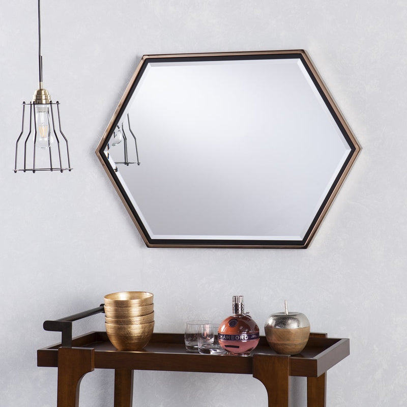 Whexis Wall Mirror - Gold - RoomsandDecor.com