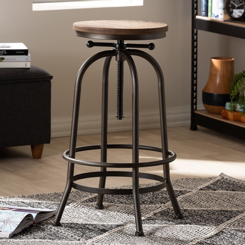 Industrious Adjustable Swivel Bar Stool - RoomsandDecor.com