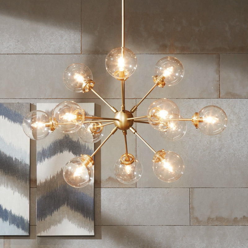 Lemmenjoki Goldtone Chandelier - RoomsandDecor.com