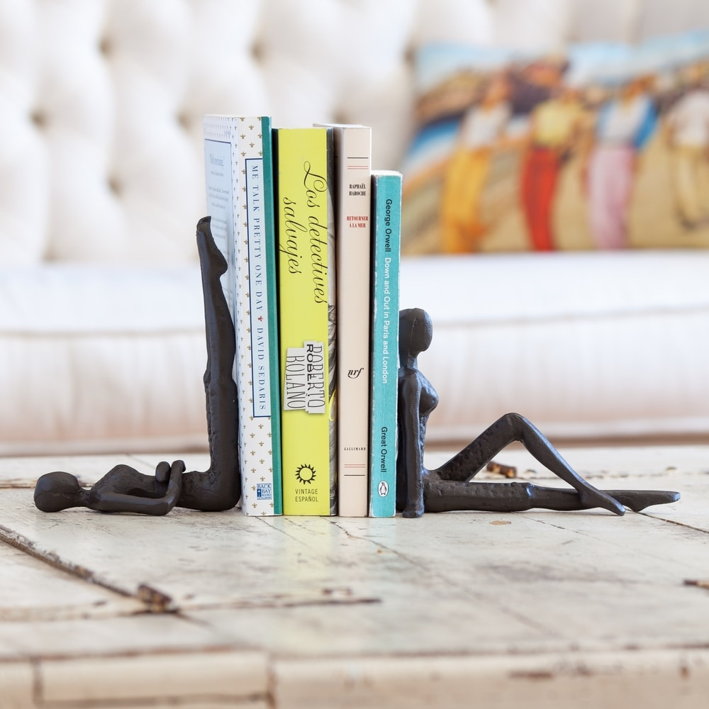 Ladies Stretching Metal Bookend Set