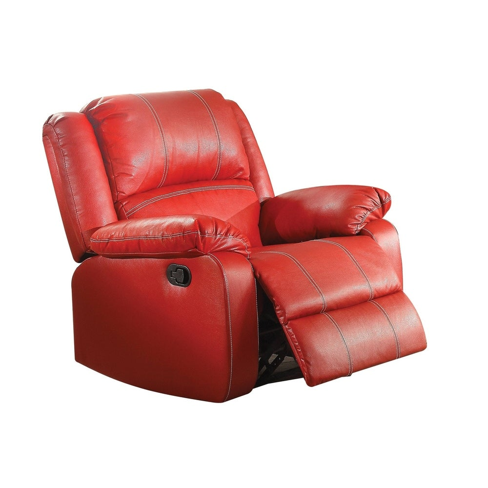Leather Rocker Recliner Chair, Red - RoomsandDecor.com