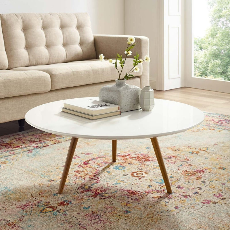 Atlanta Contemporary Glass Top Coffee Table