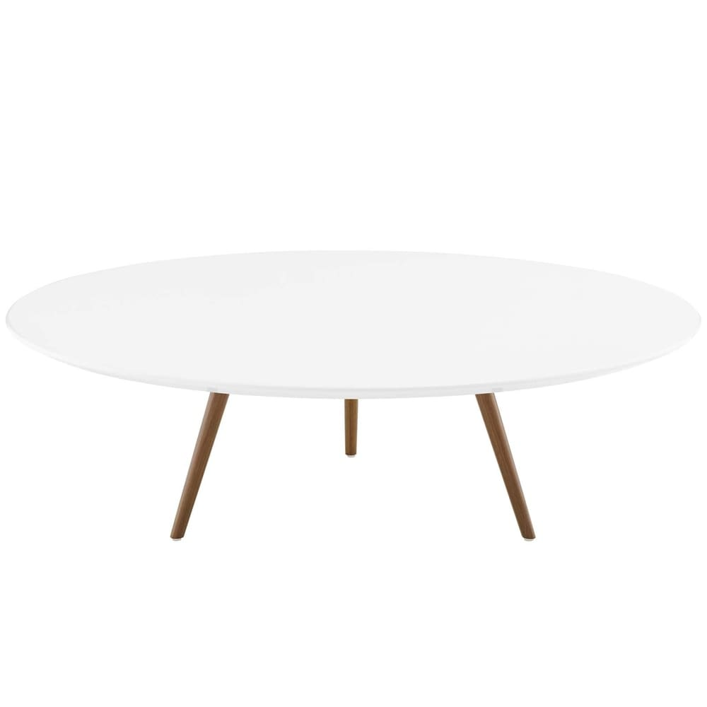 "Lippa 47"" Round Wood Top Coffee Table with Tripod Base"