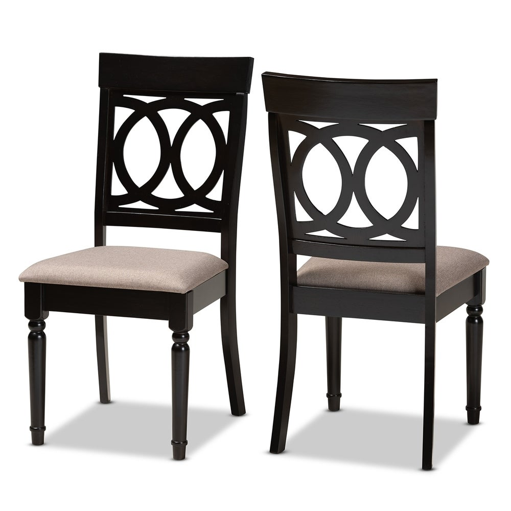 Lucie Modern and Contemporary 2-Piece Dining Chair Set