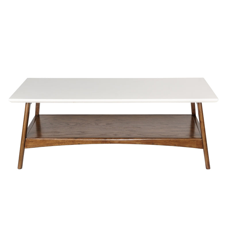 Park Avalon White/ Pecan Coffee Table - RoomsandDecor.com