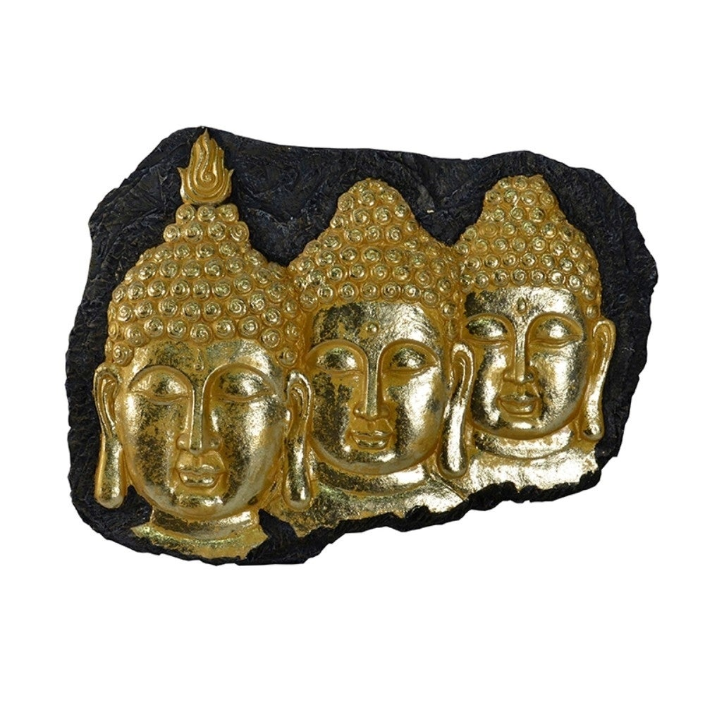 Magnificent Resin Buddha Wall Decor, Gold - RoomsandDecor.com