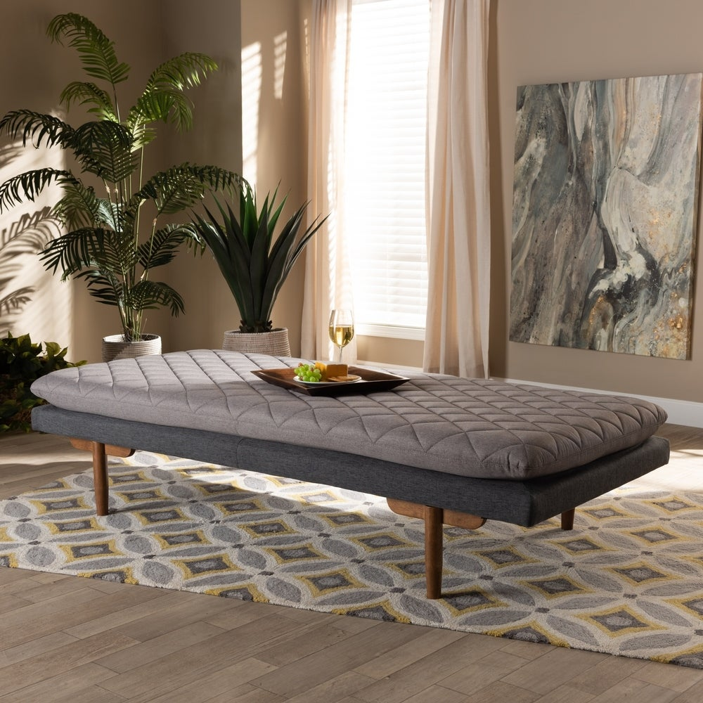 Marit Mid-Century Modern Upholstered Wood Daybed - RoomsandDecor.com