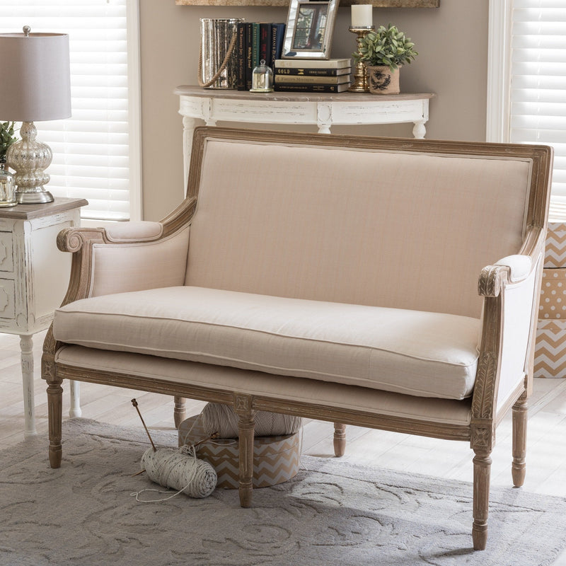Marla Traditional French Loveseat - RoomsandDecor.com