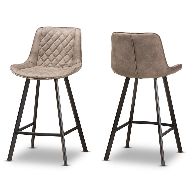 Santana Brown Fabric Counter Stool Set - RoomsandDecor.com