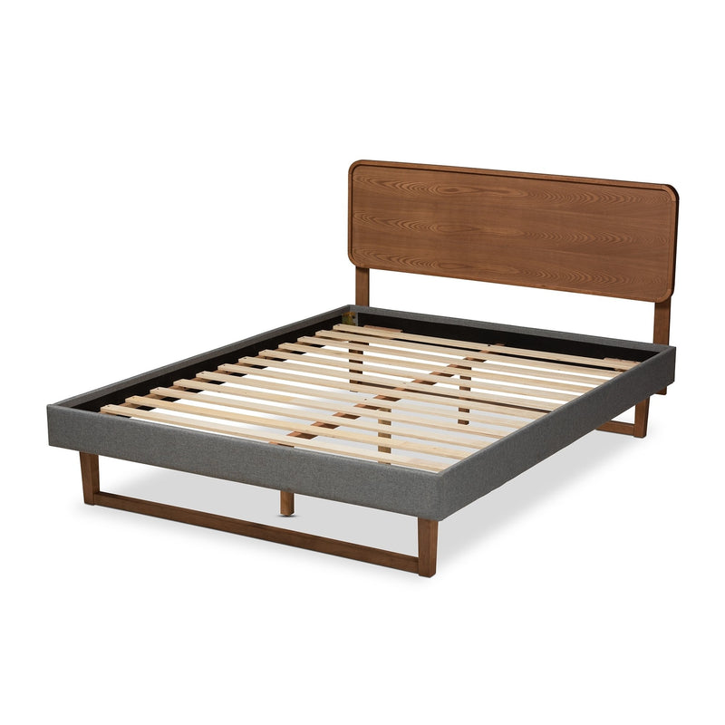 Mena Mid-Century Queen Platform Bed - RoomsandDecor.com