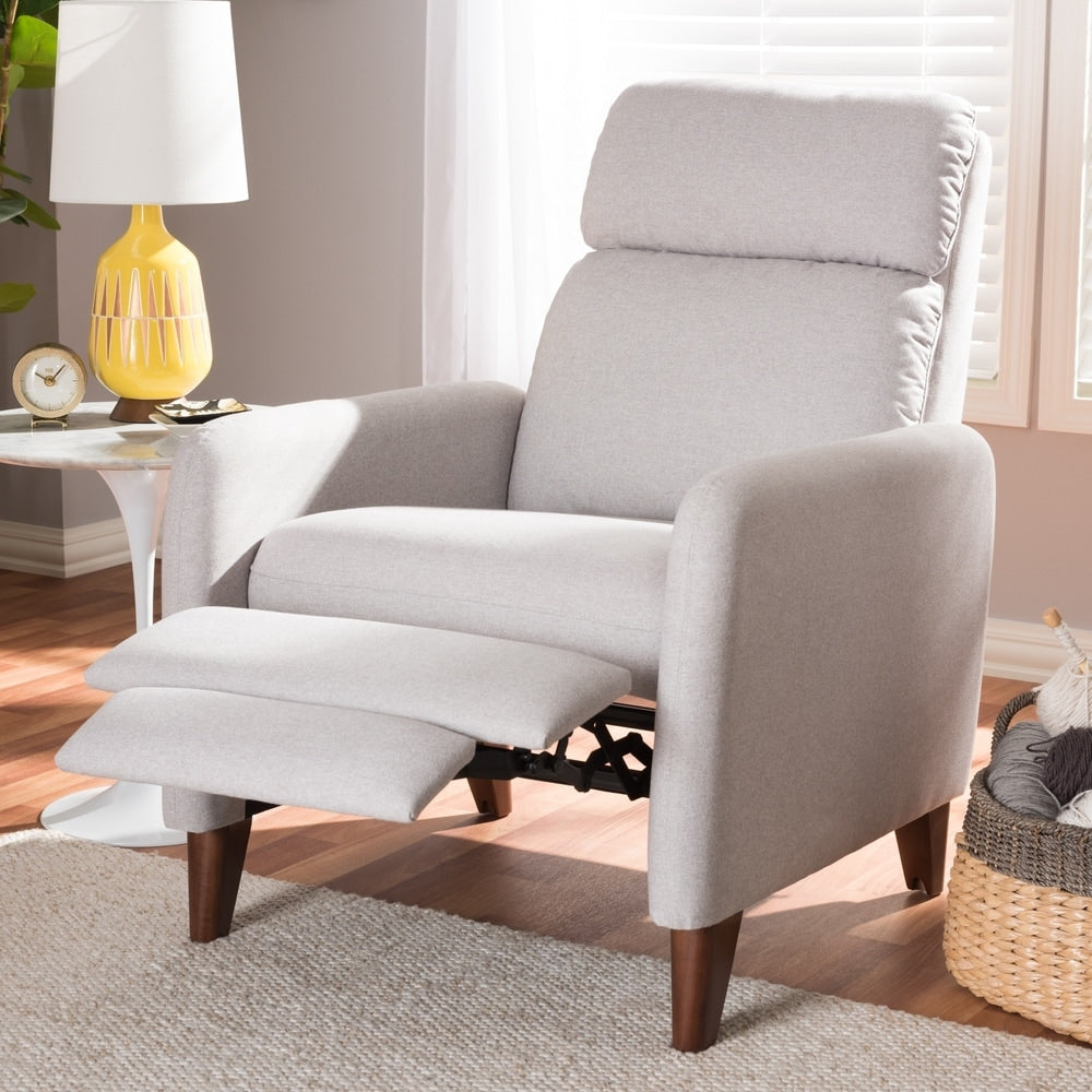 Mid-century Fabric Recliner - RoomsandDecor.com