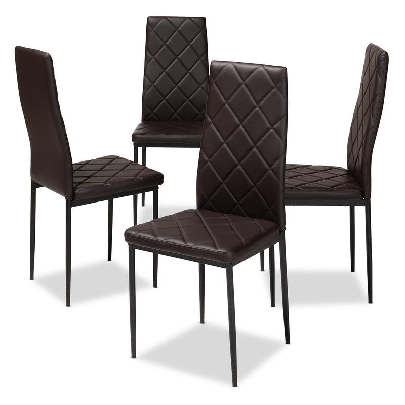 Madera Faux Leather Dining Chair 4-Piece Set - RoomsandDecor.com