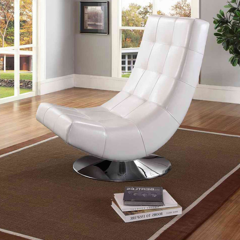 Modern White Accent Chair - RoomsandDecor.com