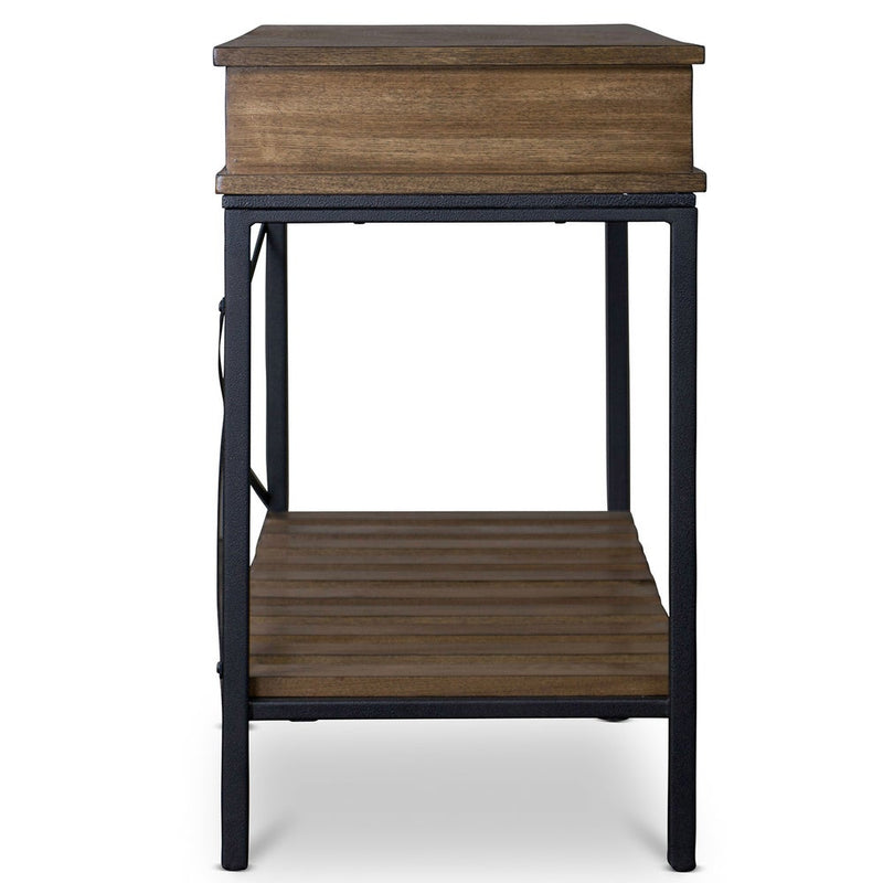 Newcastle Industrial Rustic Wood Console Table - RoomsandDecor.com