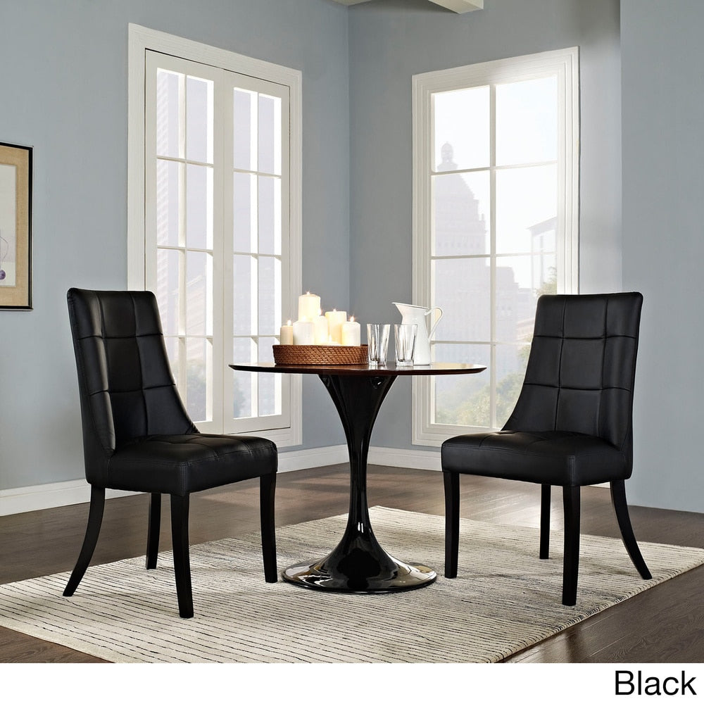 Noblesse Vinyl Dining Chair (Set of 2) - Black