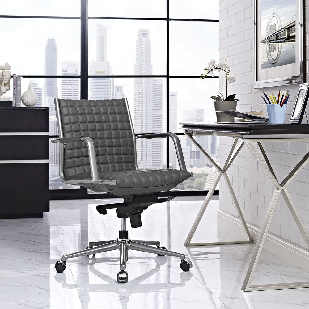 Pattern Office Chair - White