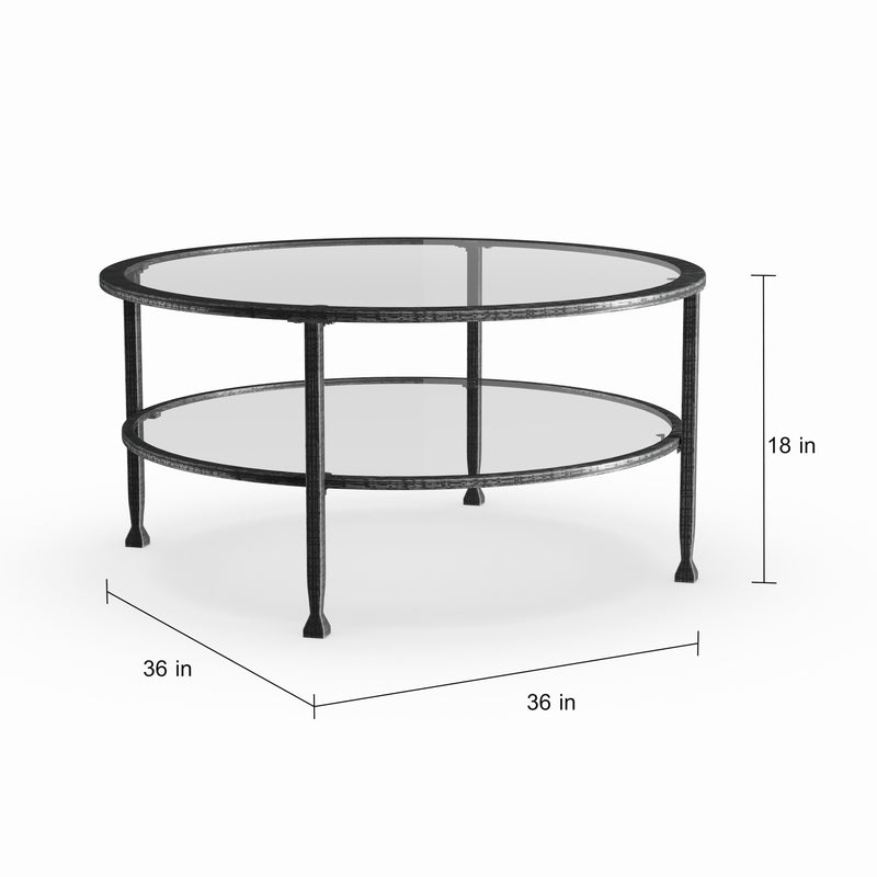 Glenn Metal/ Glass Round Cocktail Table - RoomsandDecor.com