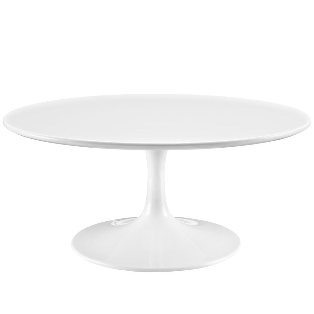 Progress White 36-inch Round Coffee Table