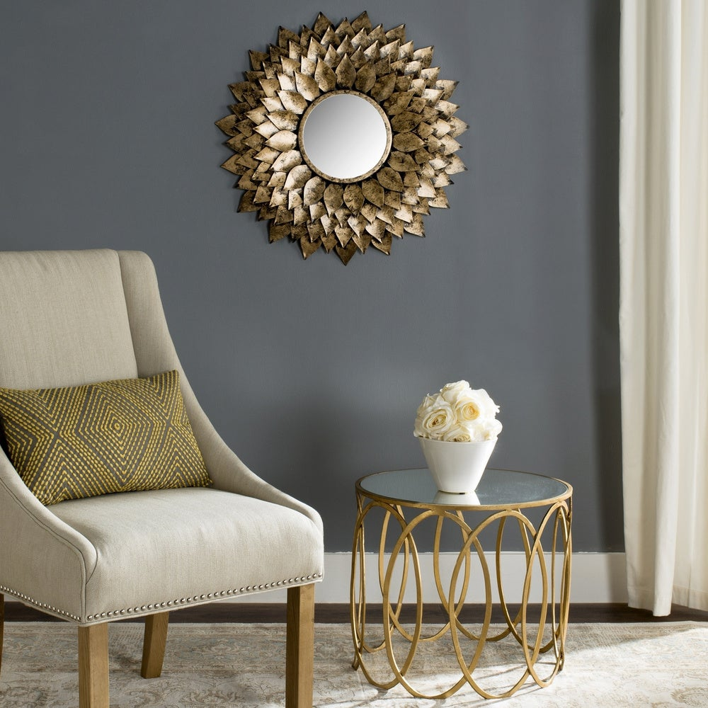 Safavieh Provence Gold Sunburst 27-inch Decorative Mirror - RoomsandDecor.com