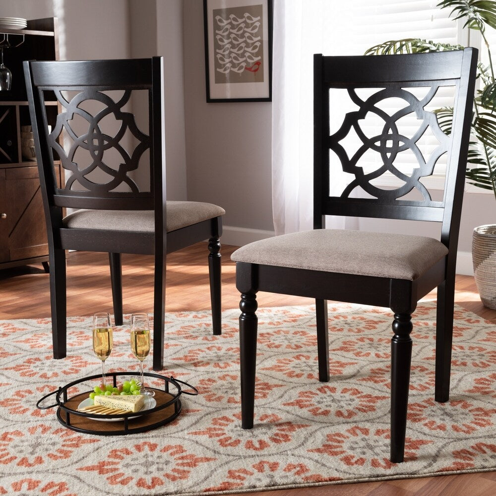 Renaud Modern and Contemporary 2-Piece Dining Chair Set