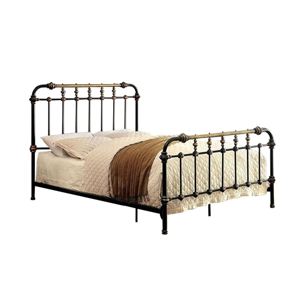 Contemporary Metal Eastern King Size Bed - RoomsandDecor.com