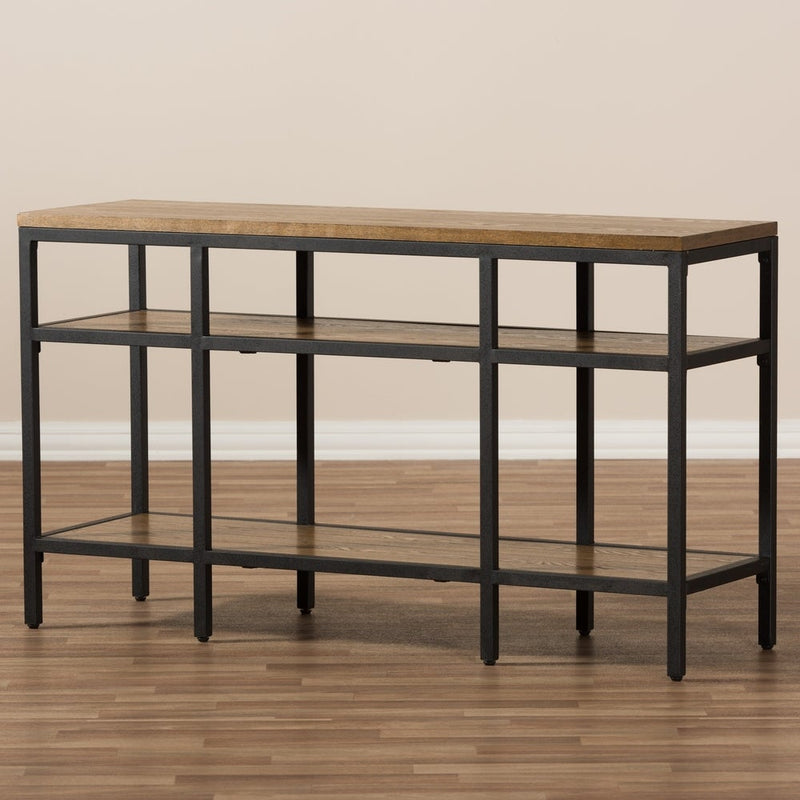 Rustic Brown and Black Console Table - RoomsandDecor.com