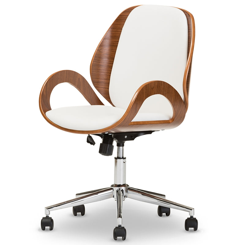 Belvue Modern Office Chair - White - RoomsandDecor.com