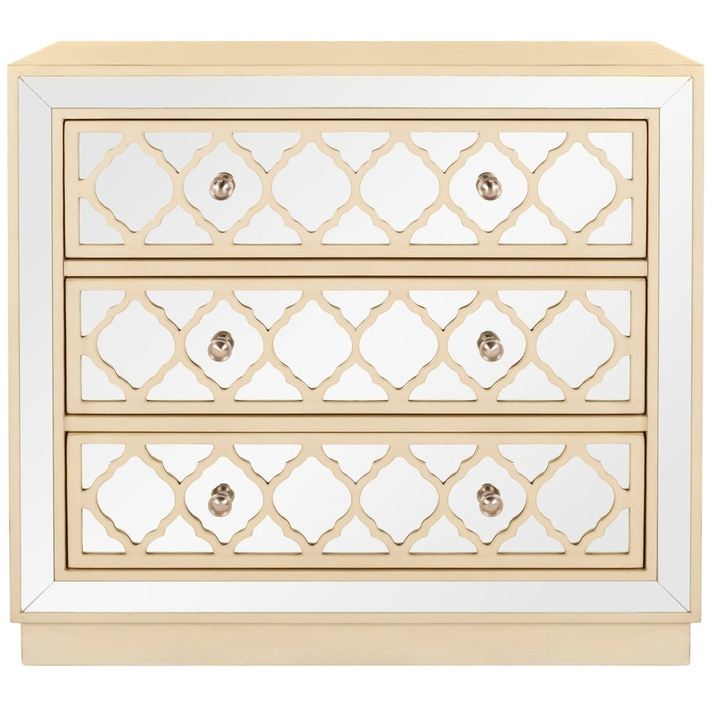 San Diego 3-Drawer Beige Storage Chest