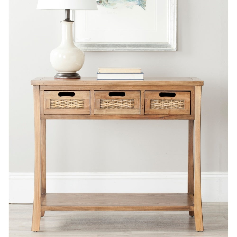 Autumn Brown 3-drawer Console Table