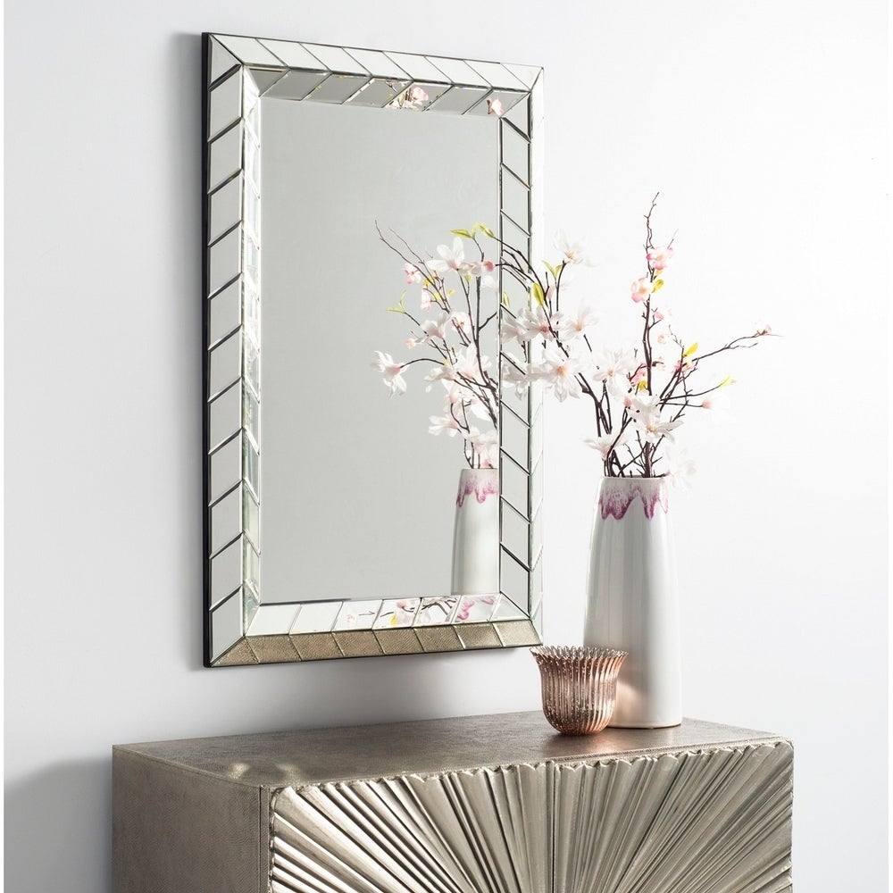 Calico Deco Silver Rectangle Decorative Mirror - RoomsandDecor.com