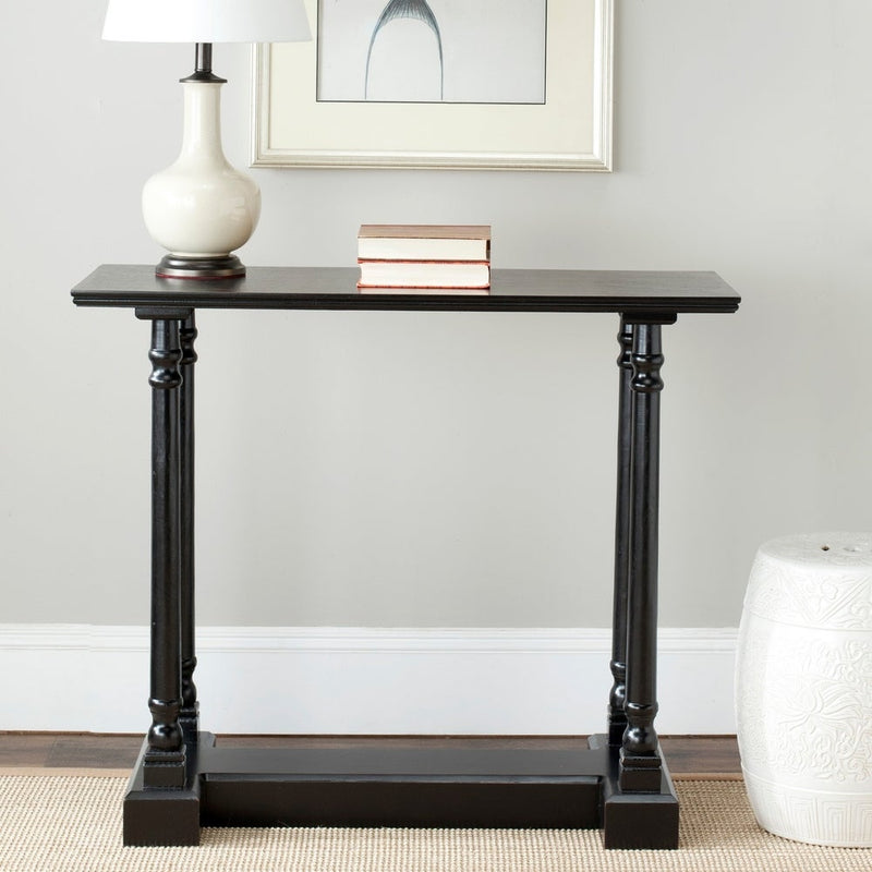 Gridiron Stainless Steel Wood Inlay Console Table