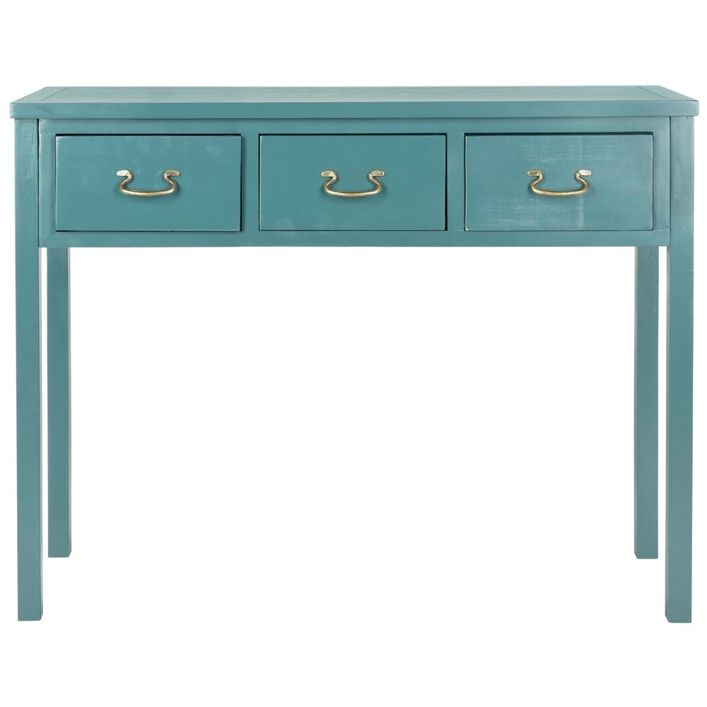 Cindy Teal 3-drawer Console Table