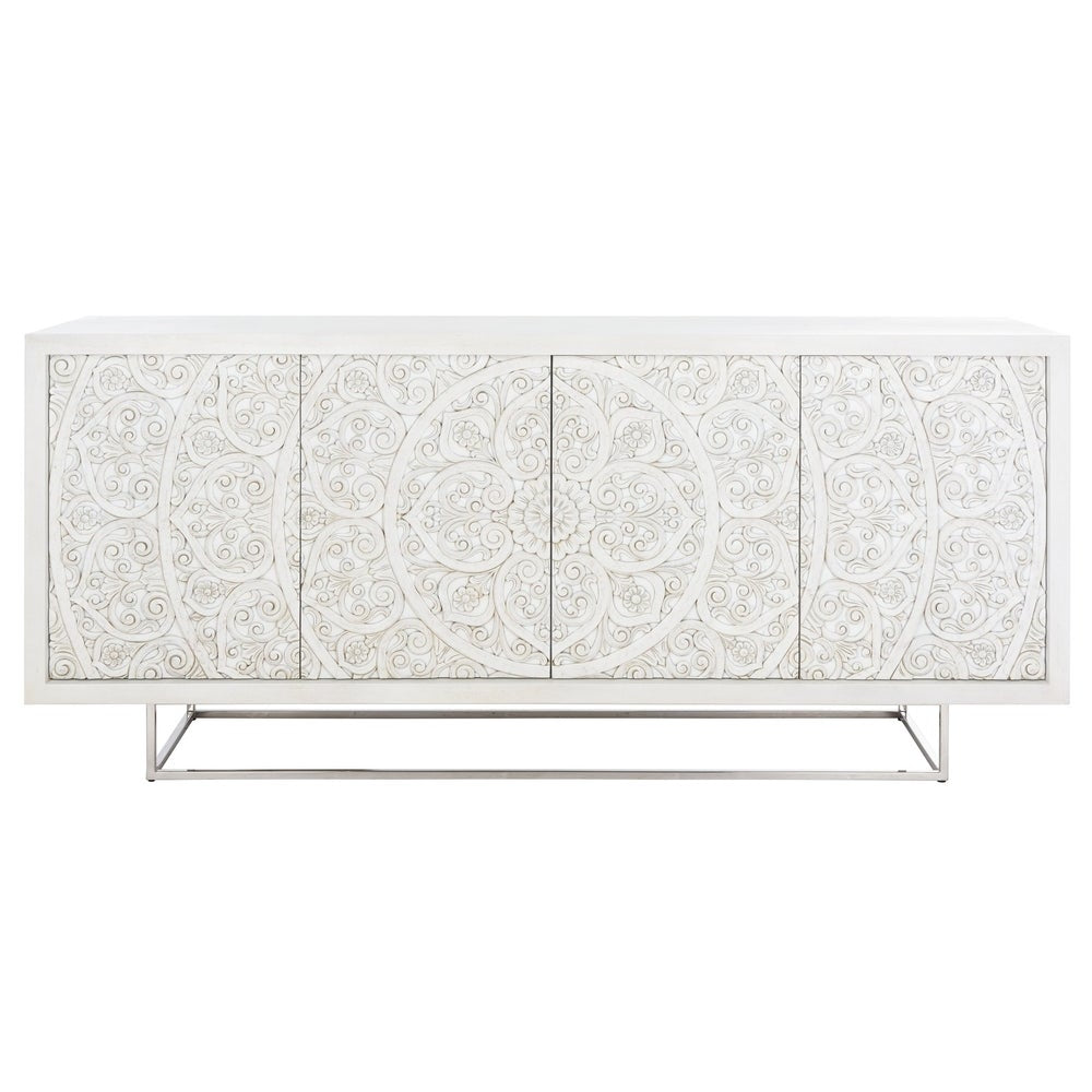 Salvatore Hand-Carved Scroll Storage Sideboard / Tv Stand - RoomsandDecor.com