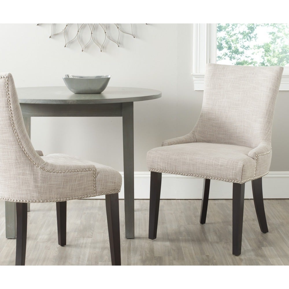 Lester Grey Viscose Blend Dining Chairs (Set of 2)