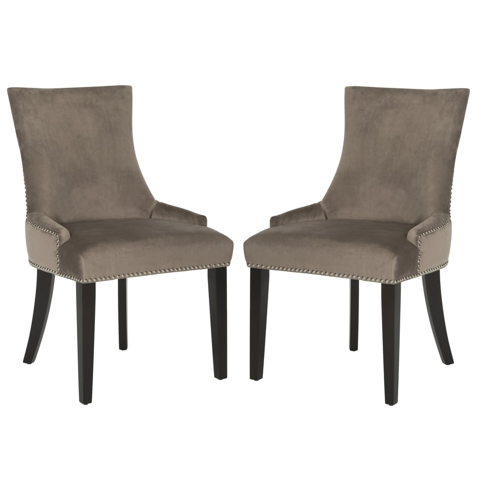 Mushroom Dining Chairs - Nickel Nailheads (Set of 2)