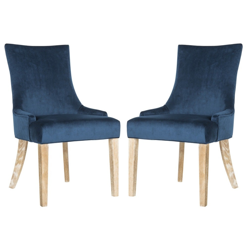 "Safavieh Dining Lester Navy Dining Chairs (Set of 2) - 22"" x 24.8"" x 36.4"""