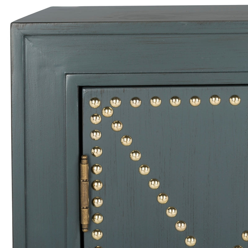 2-Door Steel Teal Storage Chest