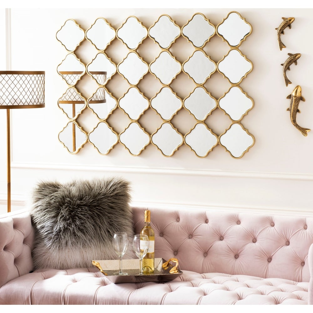 Safavieh Fia Gold Moroccan 47 x 32-inch Rectangle Decorative Mirror - RoomsandDecor.com