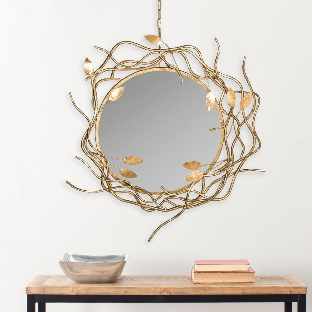Gold Wreath Antique Gold 39-inch Decorative Mirror - RoomsandDecor.com