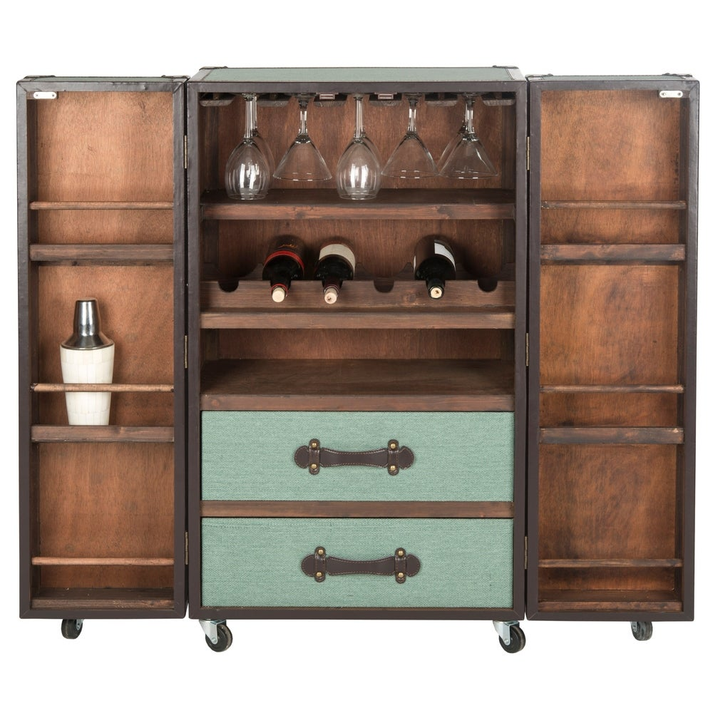 Safavieh Grayson Storage Sage Bar Cabinet - RoomsandDecor.com