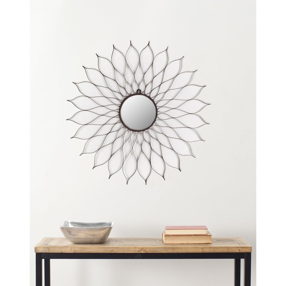 "Safavieh Handmade Art Rustic Flower 35-inch Decorative Mirror - 35"" x 35"" x 0.5"" - RoomsandDecor.com"