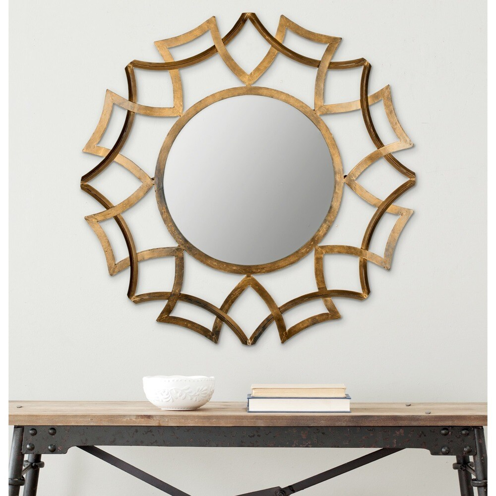 Safavieh Inca Antique Gold Sunburst 35-inch Decorative Mirror - RoomsandDecor.com