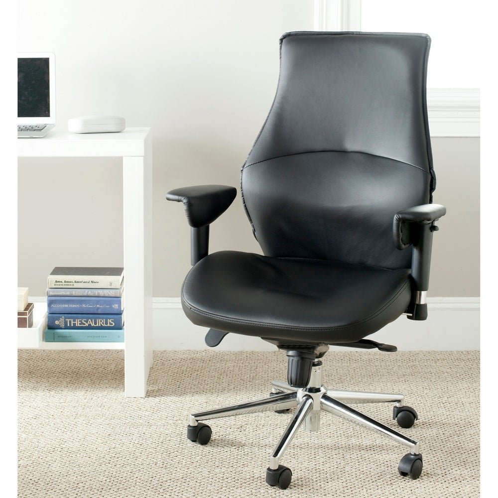 Safavieh Irving Black Desk Chair - RoomsandDecor.com