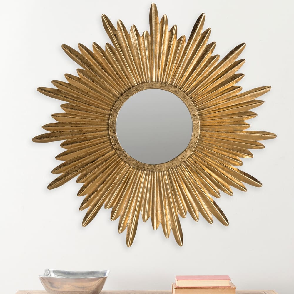 Sunburst Antique Gold 34-inch Decorative Mirror