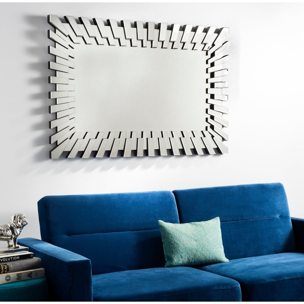 Silver 47 x 31-inch Rectangle Decorative Mirror