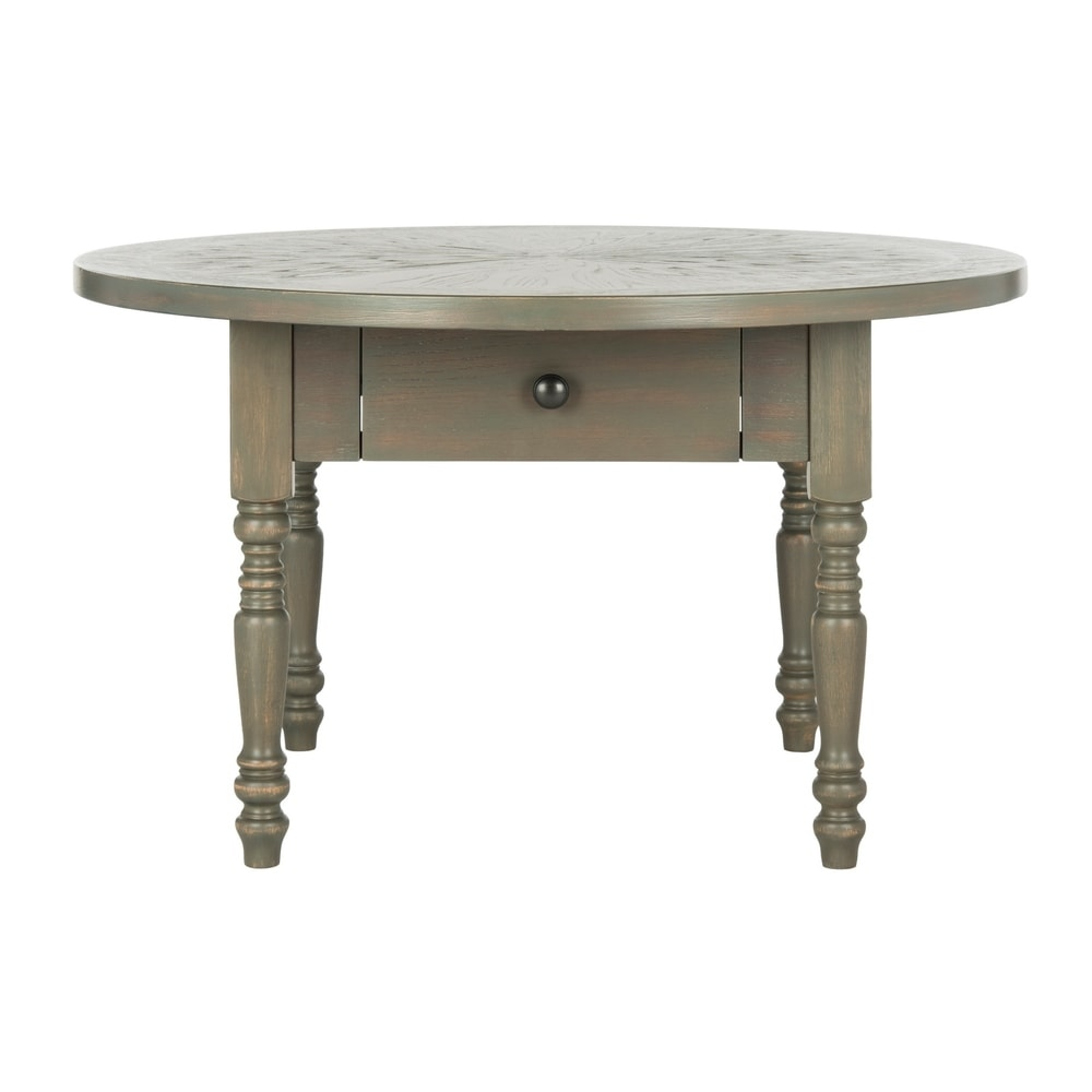 Knope Round Distressed Ash Grey Coffee Table