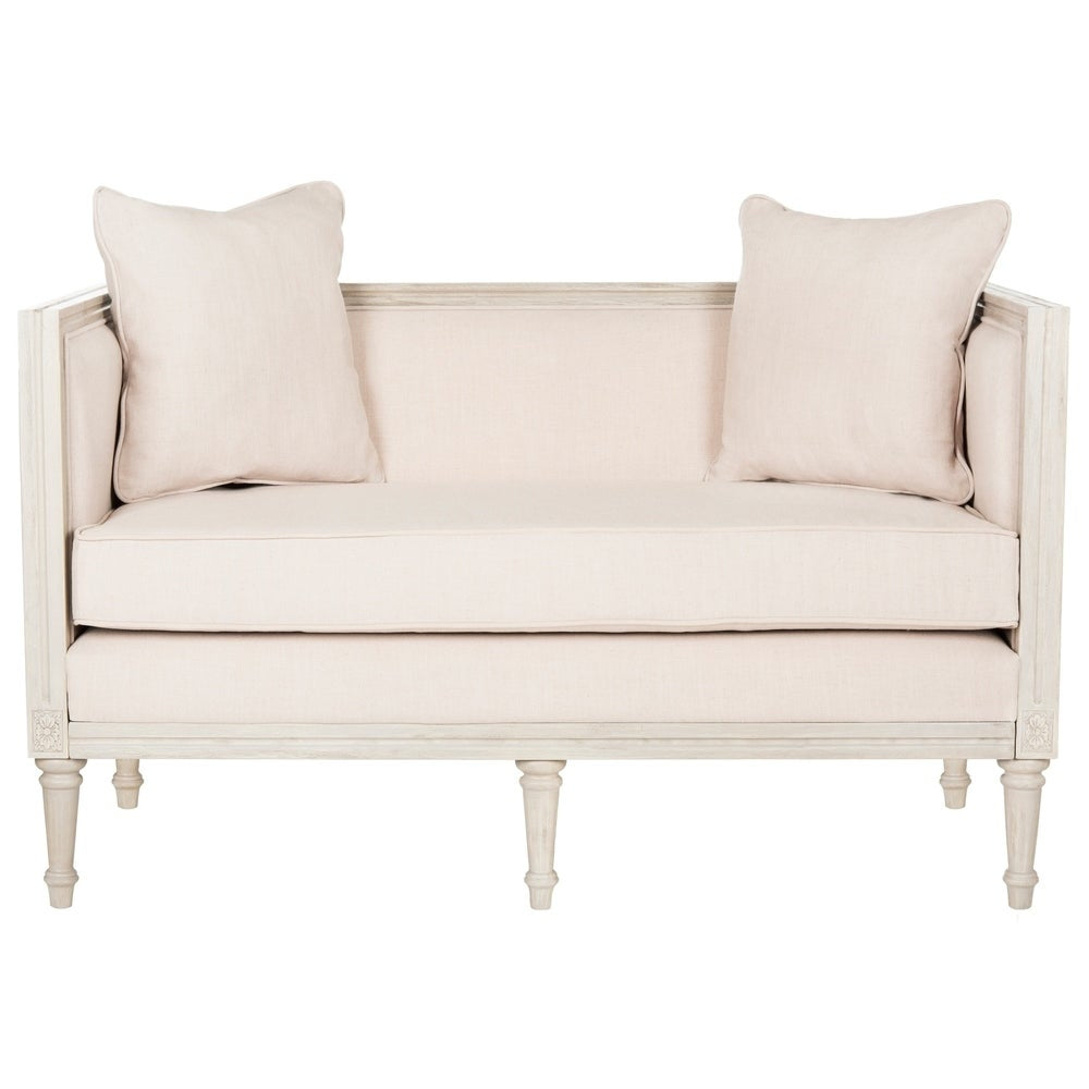 Beige / Rustic Grey Rustic French Country Settee - RoomsandDecor.com
