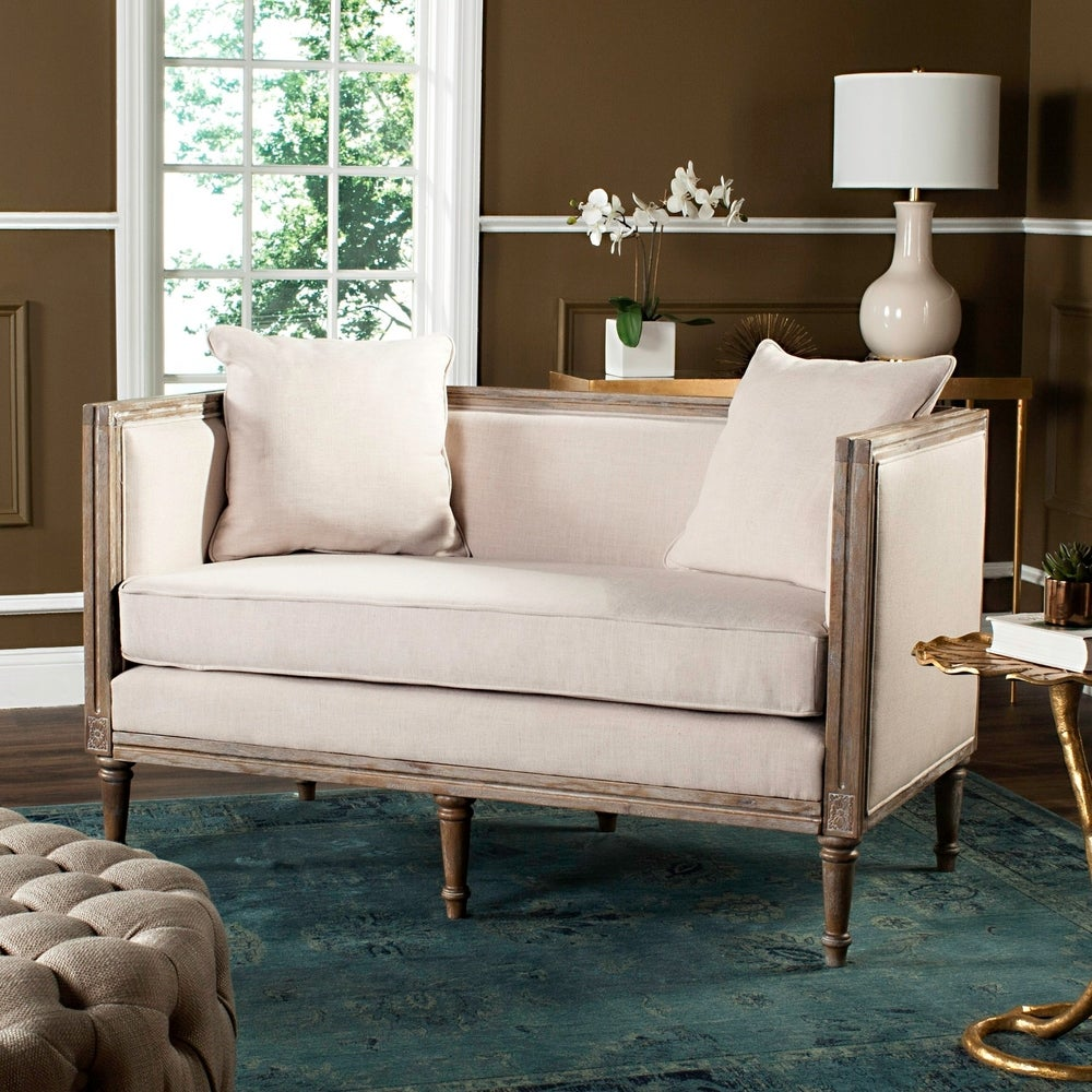 Burgundian French Country Settee - RoomsandDecor.com